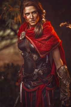 Cosplay Costume Some Perfect Assassin's Creed Odyssey Cosplay - Here's cosplayer Skunk absolutely becoming Odyssey's Kassandra. Not only has she nailed the costume, but some of her shots even went so far as to include a huge, actual eagle. The Assassin, Assassins Creed Cosplay, Assasin Creed Unity, Assassins Creed Odyssey, Assassins Creed Female, Fantasy Characters, Female Characters, Assassin's Creed Wallpaper, All Assassin's Creed