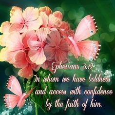 Ephesians 3:12 (KJV) In whom we have boldness and access ecard
