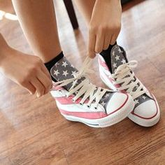 cc2f5da61a9b28 America flag shoes shoes sneakers patriotic fourth of july Chuck ...