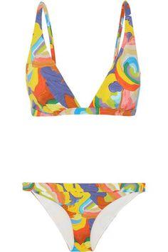 Missoni - Mare Printed Triangle Bikini - Orange - IT40