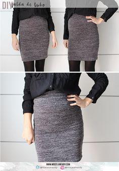 DIY Sewing | Falda lápiz muy fácil de hacer | DIY Pencil skirt