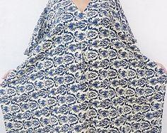 Plus Size Clothing Boho Maxi Dress Indian Handblock Print Kaftan Cotton Caftan Summer Dress Boho Gypsy Beach Kaftans Nightgown Long Caftan