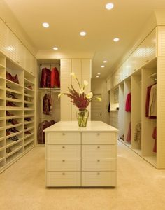 Dressing room ideas (I like the open idea, but want doors to keep things clean and tidy)  Need to work on a compromise