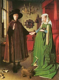 Portrait Of Giovanni Arnolfini And His Wife by Jan van Eyck, 1434