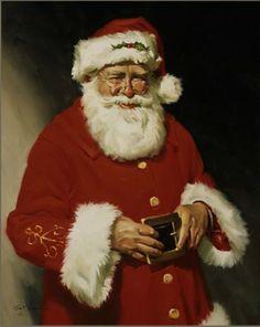 The classic poise for Mr.Kris Kringle (aka Santa).
