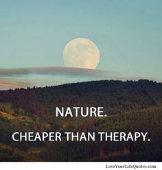 """OR: """"Exercise-Cheaper than therapy"""" ? Nature - cheaper than therapy Great Quotes, Quotes To Live By, Me Quotes, Inspirational Quotes, Motivational Quotes, Photo Quotes, Nature Quotes, Nature Nature, Statements"""
