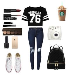 """""""Song tag"""" by crystalgems125 ❤ liked on Polyvore featuring Converse, Givenchy, NARS Cosmetics, Michael Kors, OPI, Boohoo and Fujifilm"""