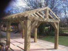 Wooden Garden Shelter, Structure, Gazebo, Hot Tub, Car Port Canopy Kit 4.6m x 3m | eBay