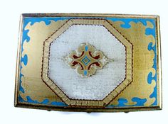 Vintage Musical Jewelry Box Heraldic Crest by EclecticVintager,