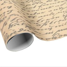 Old Vintage Script Wrapping Paper