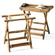 Rattan Tray & Luggage Rack