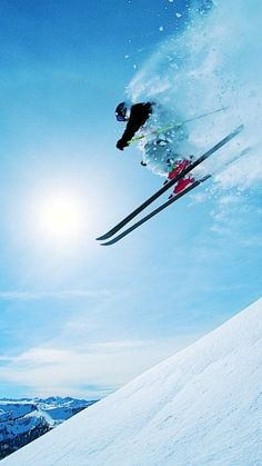 Catching some air. #skiing