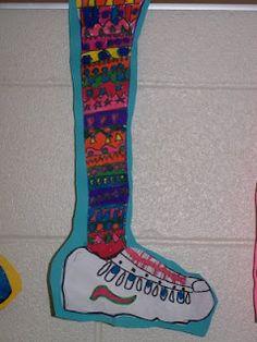 Crazy Socks sub lesson--pattern, line, etc.