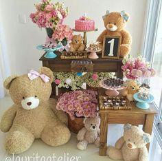 Combinaciones Teddy Bear Party, Teddy Bear Birthday, Teddy Bear Baby Shower, Baby Boy Shower, Baby Shower Gifts, Baby Party, Baby Shower Parties, Baby Shower Themes, Bear Decor