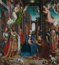 GOSSAERT (MABUSE), La Adoración de los Reyes Magos, 1510-15, National Gallery