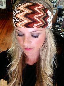Chevron Print Headband
