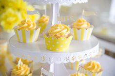 Yellow cupcakes patties