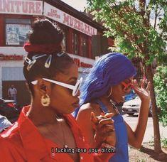"""black girls ❤️👭💙 a story for Gangsta Girl, Black Girl Magic, Black Girls, Black Women, Boujee Aesthetic, Black Girl Aesthetic, Skin Girl, Sunglasses For Your Face Shape, Looks Hip Hop"