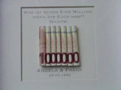 Sie erwerben einen Rahmen in weiß mit individualisierbarem Bild. Das ideale Gel… You buy a frame in white with customizable image. The ideal money gift to give away. Please let us know your name and the date to be entered. Wedding Car, Diy Wedding, Wedding Favors, Don D'argent, Wedding Present Ideas, Present Gift, Diy Gifts, Diy And Crafts, Presents