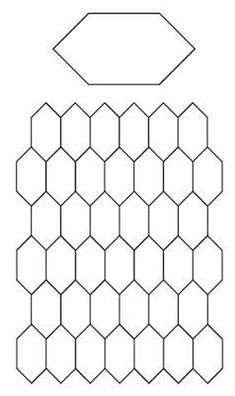 Free English Paper Piecing Honeycombs Pattern