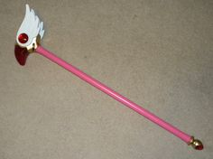 """I was commissioned to make the """"Sealing Wand"""" from the manga and anime series Card Captor Sakura (aka Cardcaptors). In the series, the Bird headed top changes to… …A star in a ring with tiny wings! I built half of the star head in [. Cosplay Tutorial, Cosplay Diy, Diy Tutorial, Cosplay Costumes, Diy Costumes, Syaoran, Cardcaptor Sakura, Diy Projects To Try, Craft Projects"""