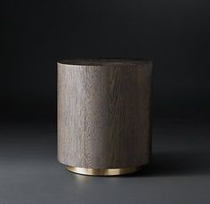 Machinto Round Occasional - Brown Oak/Brass (MODCASE15) | RH Modern