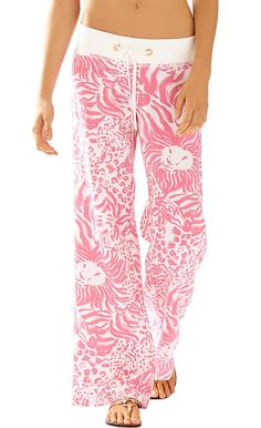 Lilly Pulitzer Linen Beach Pant in Get Spotted