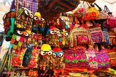 Choose your bag and your color. Chatuchak Market, Bangkok, Thailand.
