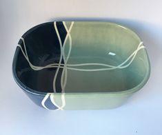 Crockery – Schale Waves – a unique product by AnkerGeschirr on DaWanda Kitchen Dining, Serving Bowls, Waves, Tableware, Unique, Handmade, Etsy, Wedding Favors, Dinnerware