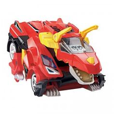 The Switch & Go Dinos Turbo Bronco the RC Triceratops transforms from triceratops to racecar with the push of a button.