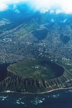 Diamond Head, Punchbowl Crater, Honolulu, Hawaii