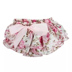 SIF Baby Ruffle Bloomers Layers Flower Shorts Skirts Toddler Satin Pants MAR 14