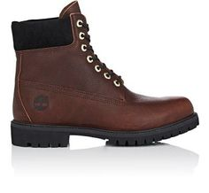 """TIMBERLAND Bny Sole Series: """"6-Inch"""" Grained Leather Boots. #timberland #shoes #boots"""