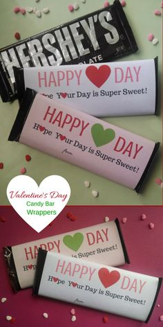 FAST & EASY Valentine's Day Candy Bar Wrappers - White & Pink Backgrounds - Personalization - Party Favor for Valentine's Day - Don't spend hours baking brownies or cookies for your students' Valentine's Day party favors! These wrappers fit a standard 1.55 oz. Hershey Candy Bar. They are pre-printed with your student's name & they are pre-cut to fit the candy bar. This favor could not be any easier ~ simply wrap them around the bar and tape it down! Visit my store…