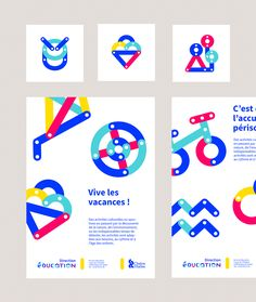 [EN] Here's the visual identity we've created for the Directorate for Education of the City of Chalon-sur-Saône. The aim was to design a project easy to decline, in order to harmonize and facilitate the school and after-school communications. We designed …