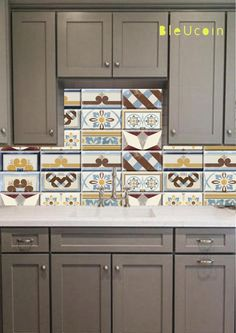 Moroccan Tangier Tile Floor Wall Bathroom Kitchen Backsplash Removable Stair Riser Decal Pack Of 44