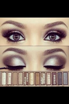 Makeup look with the first Naked palette