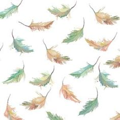 falling feathers - TOSSED FEATHERS GOSS FABRIC