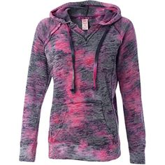 Weatherproof womens Courtney Burnout Hooded Pullover Blend Fleece (W1162) * Check out this great product. (This is an affiliate link) #SweatshirtsHoodies