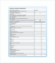 Teen Budget Spreadsheet Free Template , Budget Spreadsheet Template ...