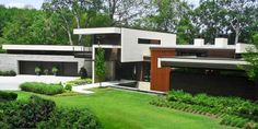 An Atlanta home exemplifies postmodern architecture, blending modern and contemporary elements to make it stand apart from its neighbors without looking obtrusive.
