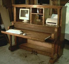 I have an old upright piano and would so love to do this, only I'd put my monitor in the middle.