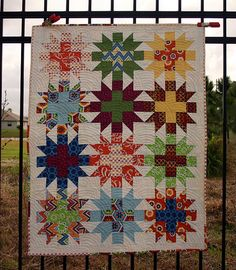 Star Crossed quilt featuring Betz White's Stitch, blogged at Quilt Story.