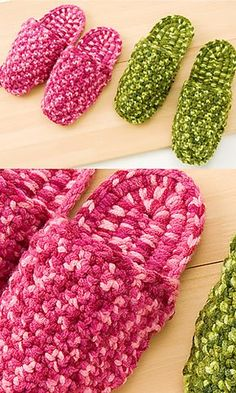comfortable crocheted slippers : free pattern