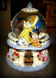 Beauty and the Beast Snow Globe I got for Christmas! =]