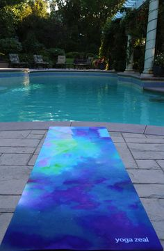 Blue Sea Yoga Mat by YogaZeal on Etsy