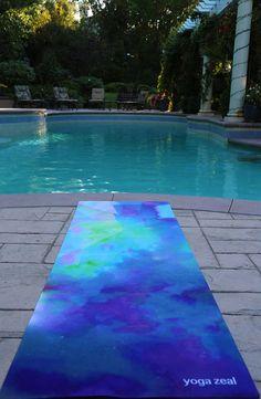 Blue Sea Yoga Mat by YogaZeal on Etsy