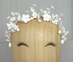 Wedding wax flower blossom & stamens crown / by PapillonsDeLeticia