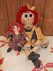 Primitive-Olde-Handmade-Grungy-Folk-Art-Mamas-Love-Annie-Baby-OOAK