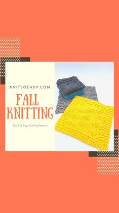 Fall Knitting, Easy Knitting Patterns, Autumn, Fall Season, Fall